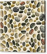 Pebbles On Sand Acrylic Print