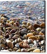 Pebbles On The Shore Acrylic Print