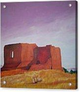 Pecos Mission Landscape Acrylic Print