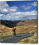 Pedalling The Pass Acrylic Print