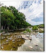 Pedernales River - Downstream Acrylic Print