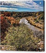 Pedernales River In Autumn Acrylic Print