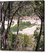 Pedernales River Pool In August Acrylic Print