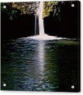 Pedernales Twin Falls-vpan Acrylic Print