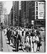 Pedestrians In New York Acrylic Print