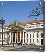 Pedro Iv Square Best Known As Rossio Square Acrylic Print