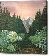 Peek-a-boo Mountains Acrylic Print
