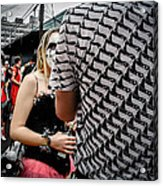 Peek-a-boo Surreal In New Orleans Acrylic Print by Louis Maistros