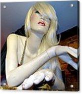 Peekaboo Blonde Acrylic Print