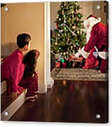 Peeking At Santa Acrylic Print