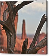 Peeking Through To Park Ave At Arches National Monument Acrylic Print