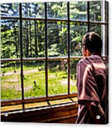 Peering Out The Window Acrylic Print