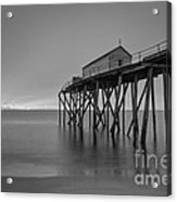Peering Through The Clouds Bw Acrylic Print