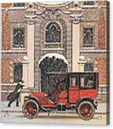 Peerless 1910s Usa Cars Winter Snow Acrylic Print