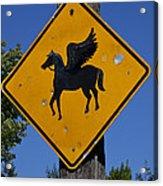Pegasus Road Sign Acrylic Print