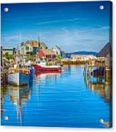 Peggy's Cove Boats Nova Scotia Acrylic Print