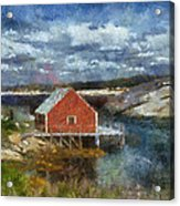 Peggy's Cove Acrylic Print by Cindy Rubin