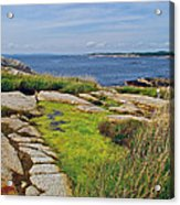 Peggy's Cove From Lighthouse-ns Acrylic Print