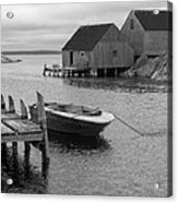 Peggys Cove In Black And White Acrylic Print