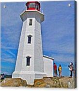 Peggy's Cove Lighthouse Closeup-ns Acrylic Print