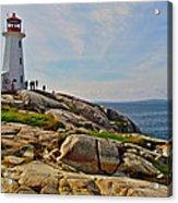 Peggy's Cove Lighthouse On The Rocks-ns Acrylic Print