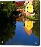 Pegnitz River In Nuremberg Acrylic Print