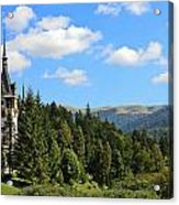 Peles Castle Acrylic Print