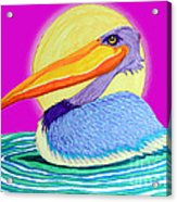 Pelican On The Water 2 Acrylic Print