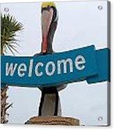 Pelican Welcome Acrylic Print