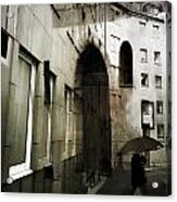 Pelted Streets  Acrylic Print