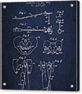 Pelvic Measuring Device Patent From 1963 - Navy Blue Acrylic Print