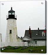 Pemaquid Point Light In The Rain - Maine Acrylic Print