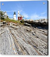 Pemaquid Point Lighthouse In Maine Acrylic Print by Olivier Le Queinec