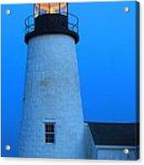 Pemaquid Point Lighthouse Moon Acrylic Print