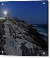 Pemaquid Point Lighthouse Moonlight Acrylic Print