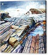 Pemaquid Rocks Acrylic Print