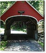 Pemigewasset River Bridge Acrylic Print