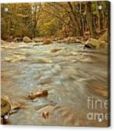 Pemigewasset River Rushing By Acrylic Print