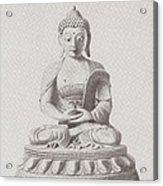 Pen And Ink Buddha Acrylic Print