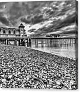 Penarth Pier 2 Mono Acrylic Print