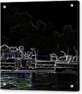 Pencil - Statue Of The Merlion And Viewing Platform Acrylic Print
