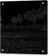 Pencil - Water Rippling In The Coastal Lagoon Acrylic Print