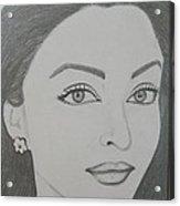 Pencil Drawing Acrylic Print by Rejeena Niaz