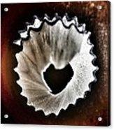 Pencil Shaving Heart Acrylic Print
