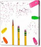 Pencils And Erasers Acrylic Print