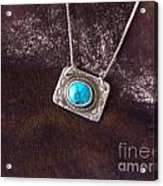 Pendant With Turquoise Acrylic Print