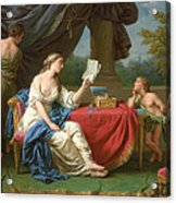 Penelope Reading A Letter From Odysseus Acrylic Print