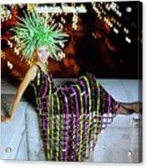 Penelope Tree Wearing Paco Rabanne Acrylic Print