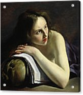 Penitent Magdalen Oil On Canvas Acrylic Print