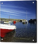 Pennan Harbour Scotland Acrylic Print